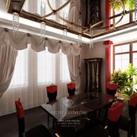 Дизайн интерьера столовой в загородном доме в стиле арт-деко