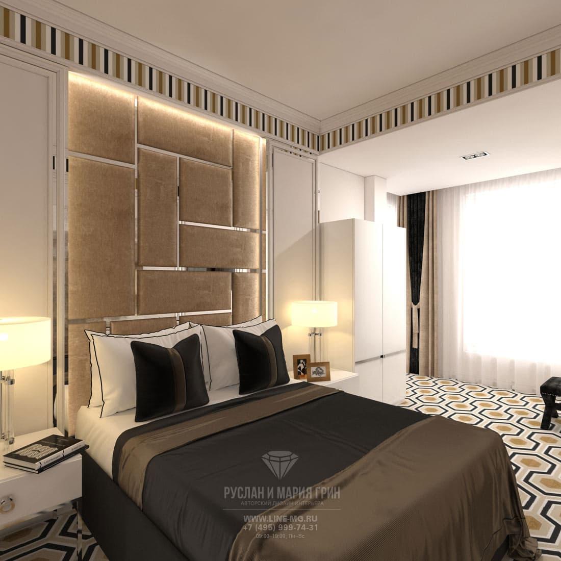 Модная спальня в белых тонах