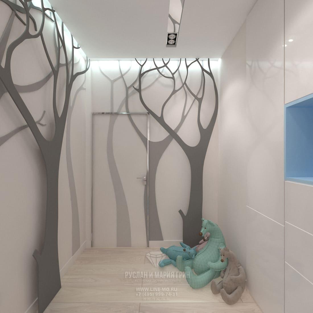 Дизайн интерьера детской комнаты. Фото 2017