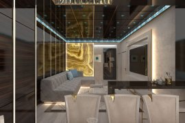 Art-deco-style interior design of an apartment. 29 photos