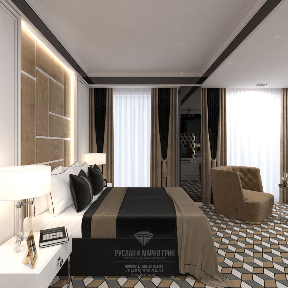 Дизайн номера люкс в бутик-отеле