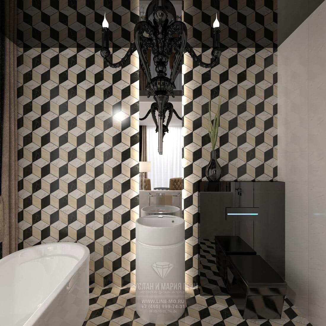 Дизайн санузла в номере люкс в бутик-отеле