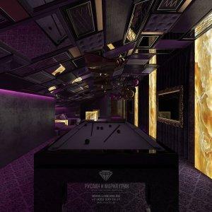 Дизайн бильярдной комнаты в маснсарде