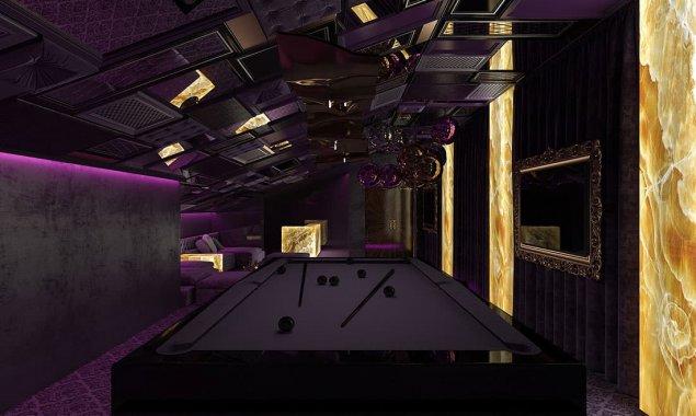 Attic design with billiard and dance floor