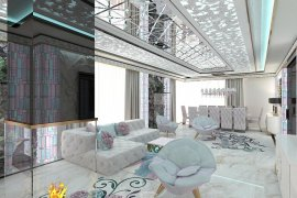 Living room and dining room interior design in the house
