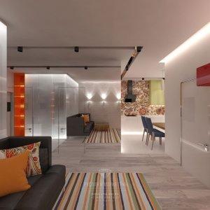 Дизайн квартиры-студии в современном стиле