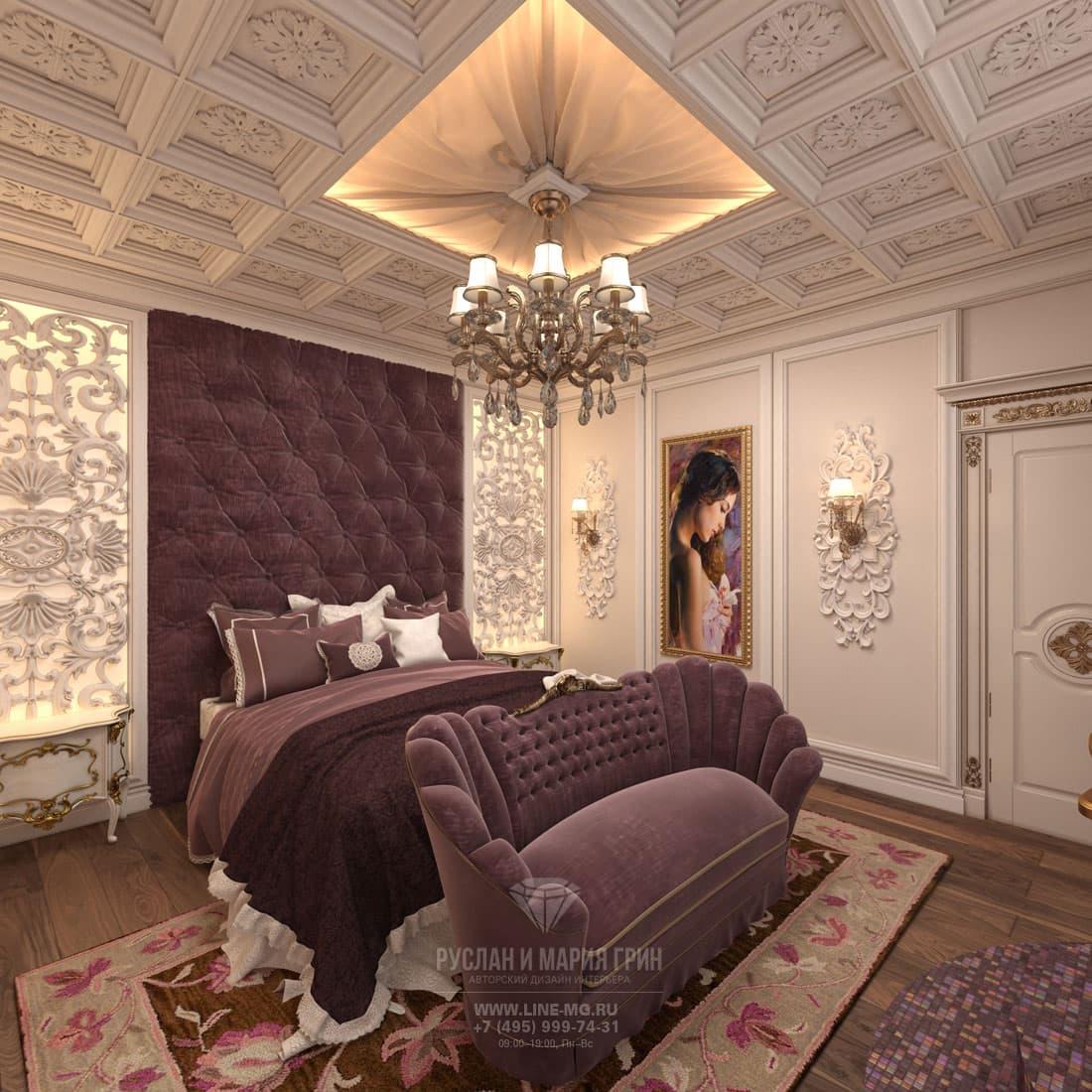 Дизайн спальни в классическом стиле. Фото