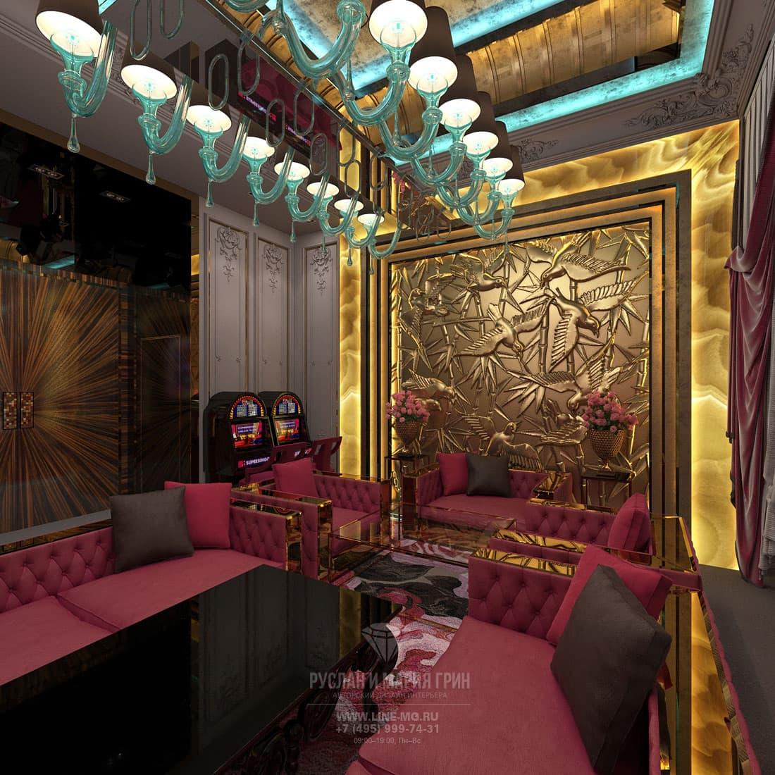 Дизайн интерьера казино в Лас-Bегасе