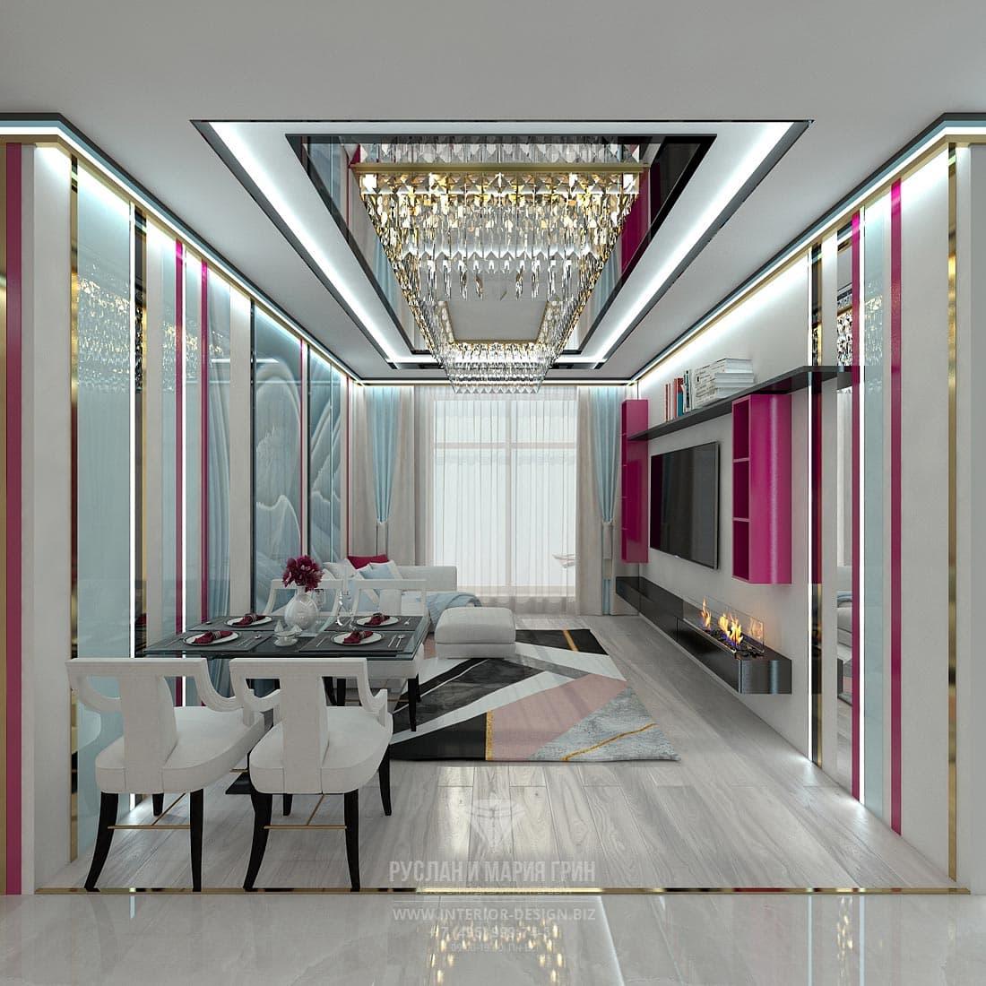 Дизайн интерьера современной гостиной. Фото 2017
