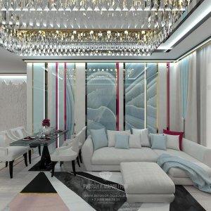 Дизайн гостиной-столовой в современном стиле