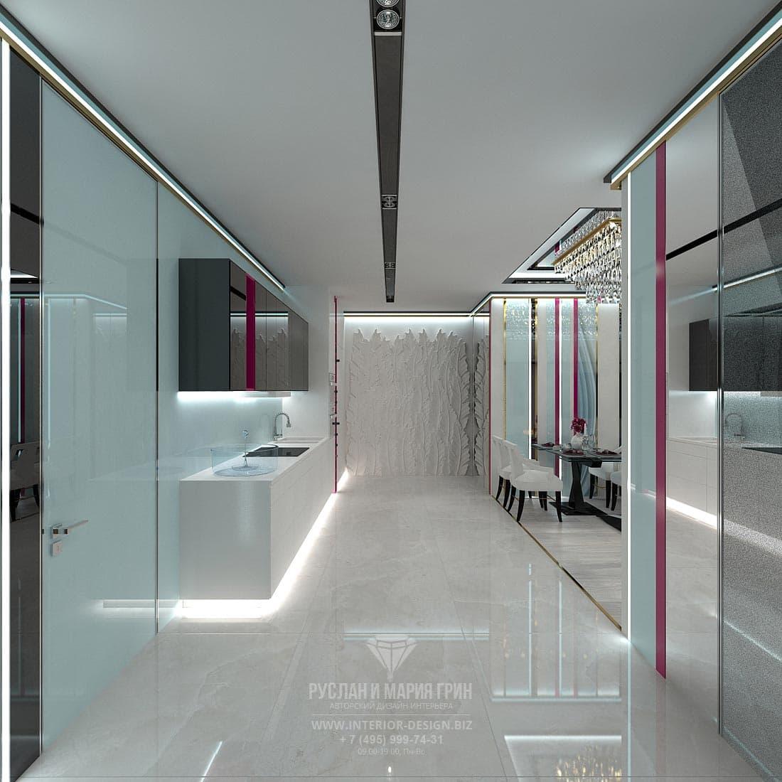 Дизайн интерьера современной кухни-гостиной. Фото 2017
