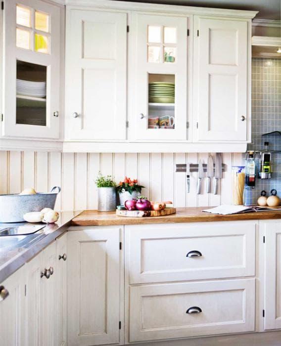Белая мебель для кухни