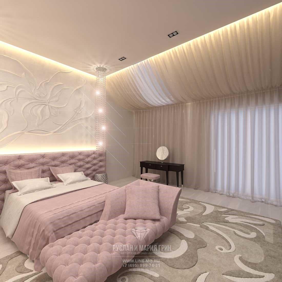 Розовый кварц в дизайне спальни