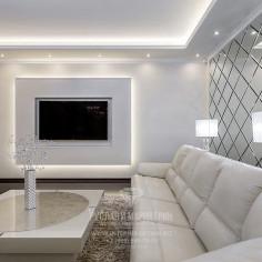 Дизайн интерьера гостиной в светлых тонах