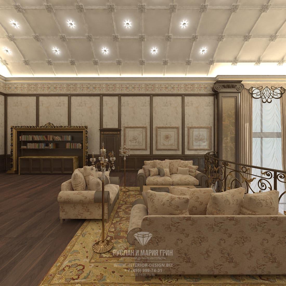Дизайн интерьера коридора второго этажа