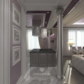 Дизайни интерьера кухонной зоны в гостиной