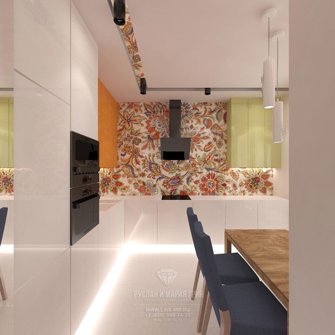 Интерьер современной кухни в квартире