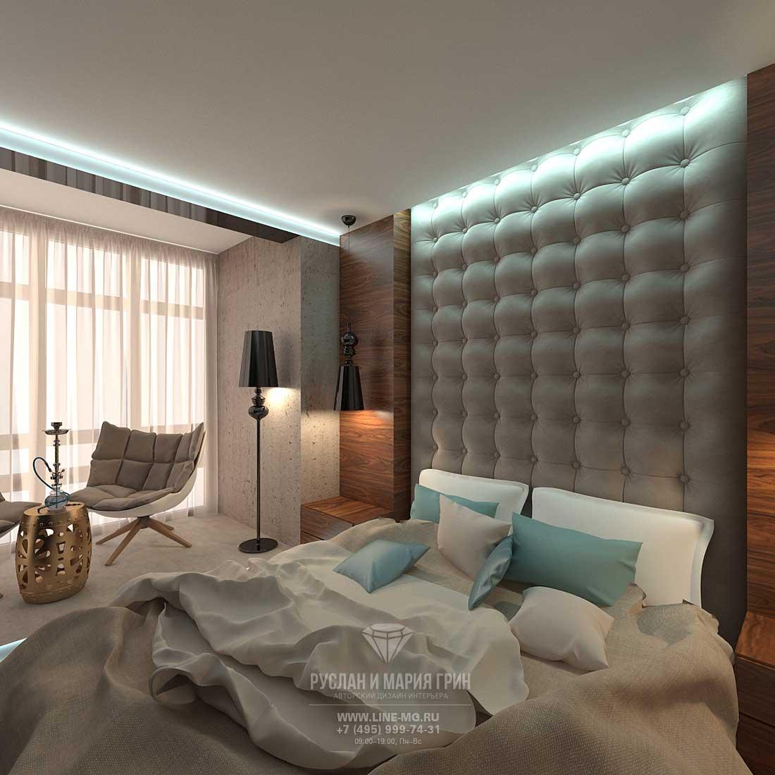 Стильный интерьер спальни в современном стиле