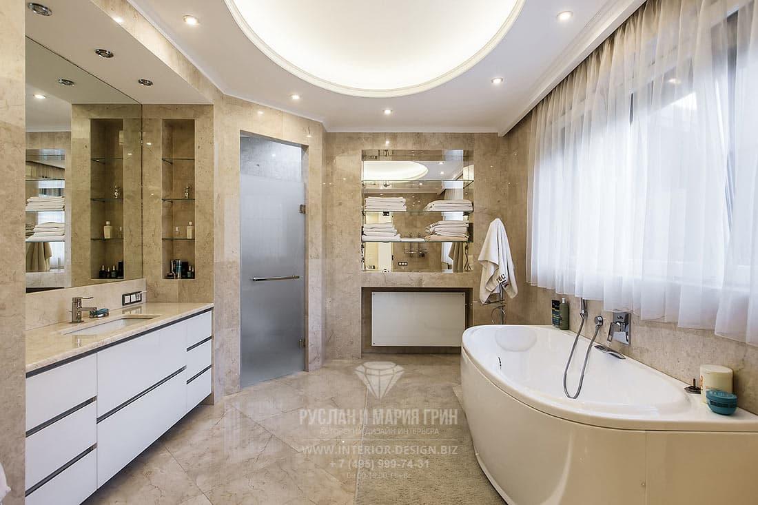 Дизайн интерьера ванной комнаты премиум-класса