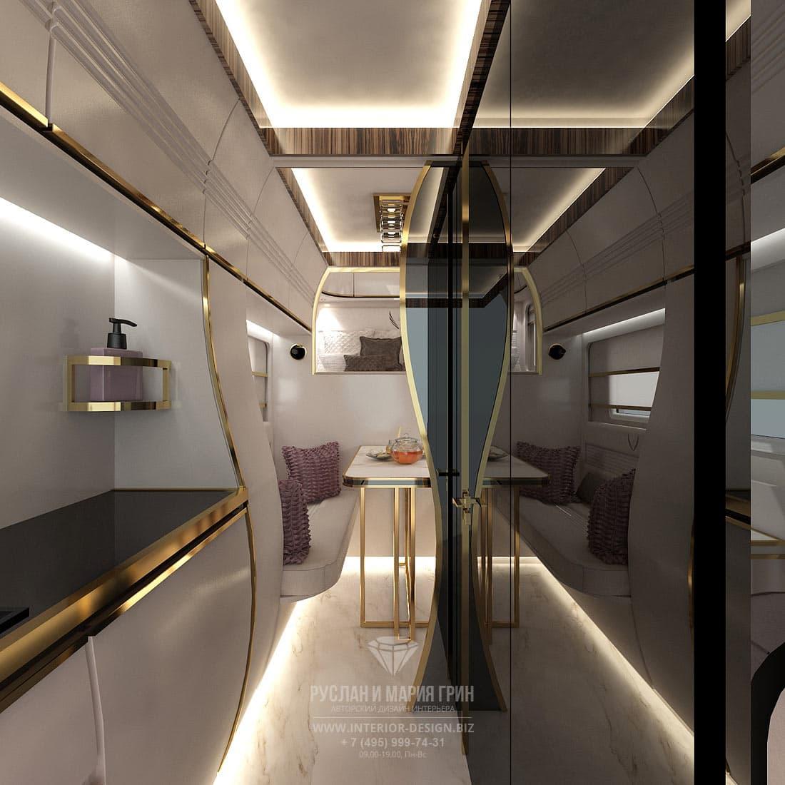 """Дизайн салона """"яхты на колесах"""" (автодома или автокемпера)"""