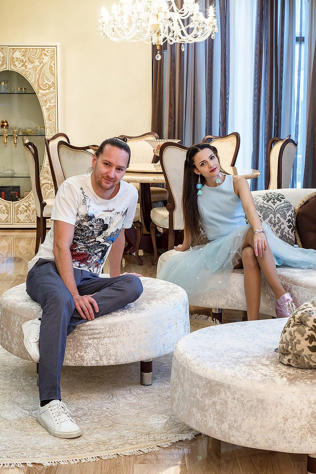 Модные дизайнеры интерьера Руслан и Мария Грин (г. Москва)