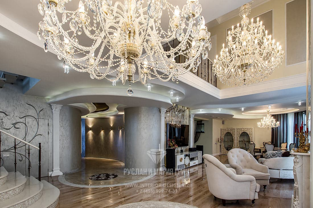 Красивый дизайн интерьера в частном доме
