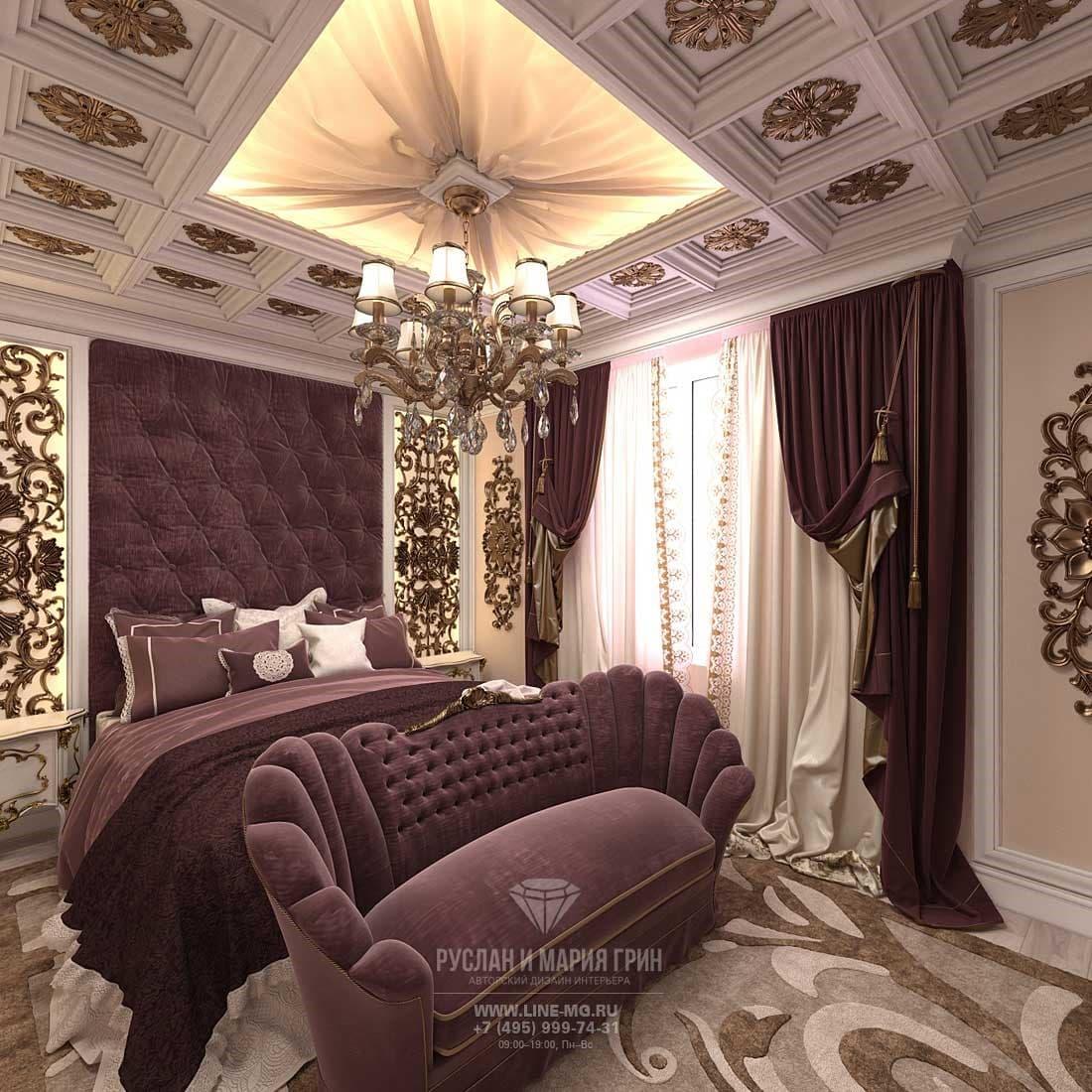 Дизайн спальни в классическом стиле в частном доме
