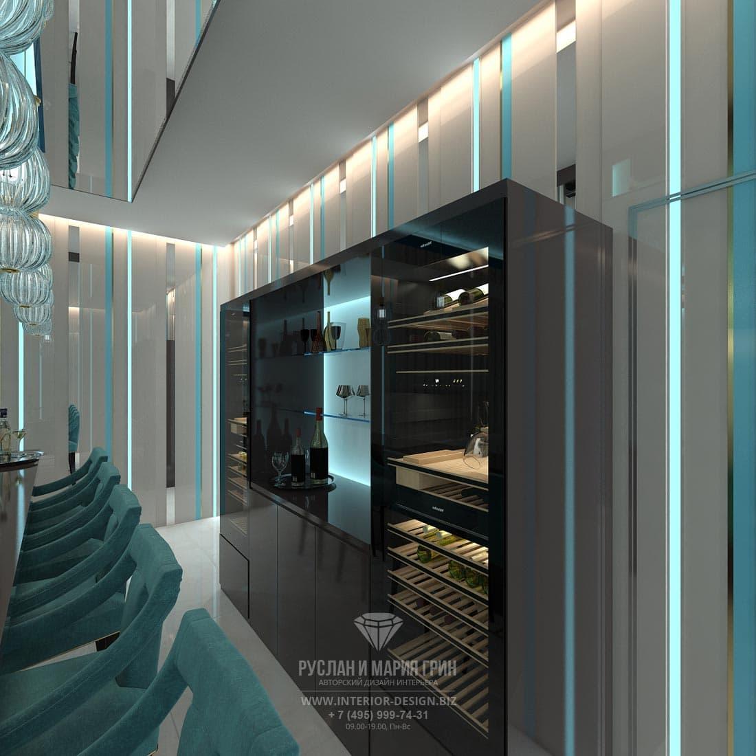 Красивый дизайн комнаты на цоколе