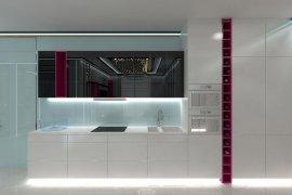 Дизайн кухни в коридоре 3-комнатной квартиры