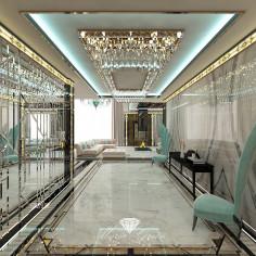 Дизайн прихожей в частном доме в стиле ар-деко