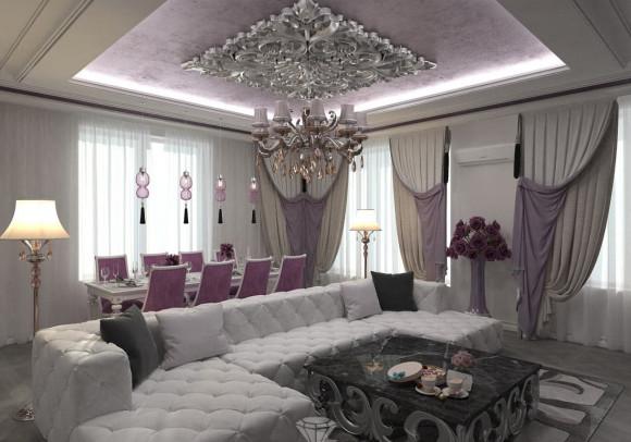 Гостиная комната в коттедже