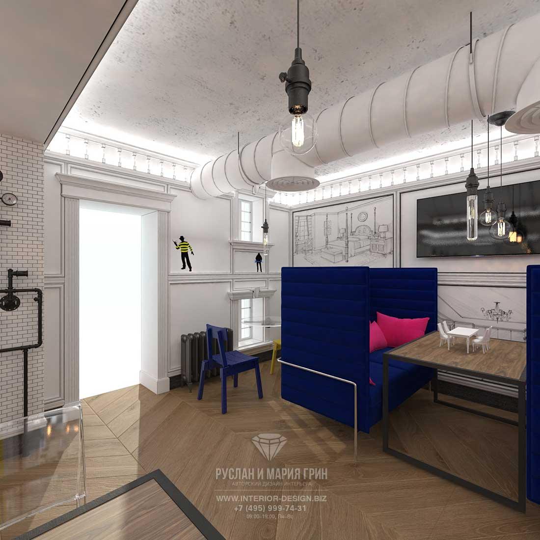 Проект интерьера бара «Киану» в Москве на Патриарших прудах
