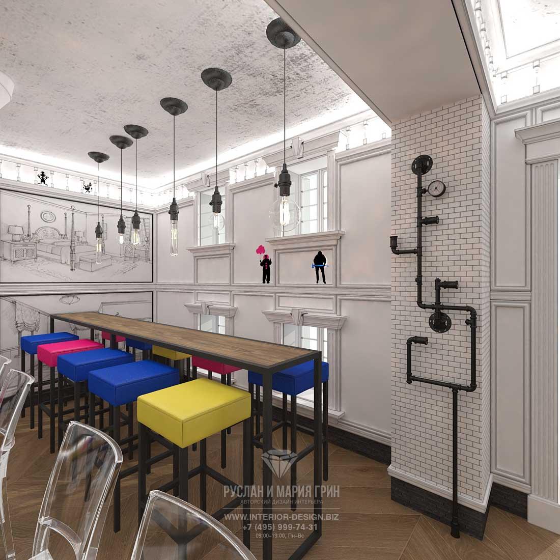 Дизайн бара «Киану» в Москве