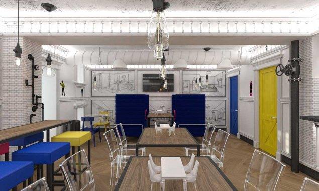 Дизайн бара у Винзавода в Москве