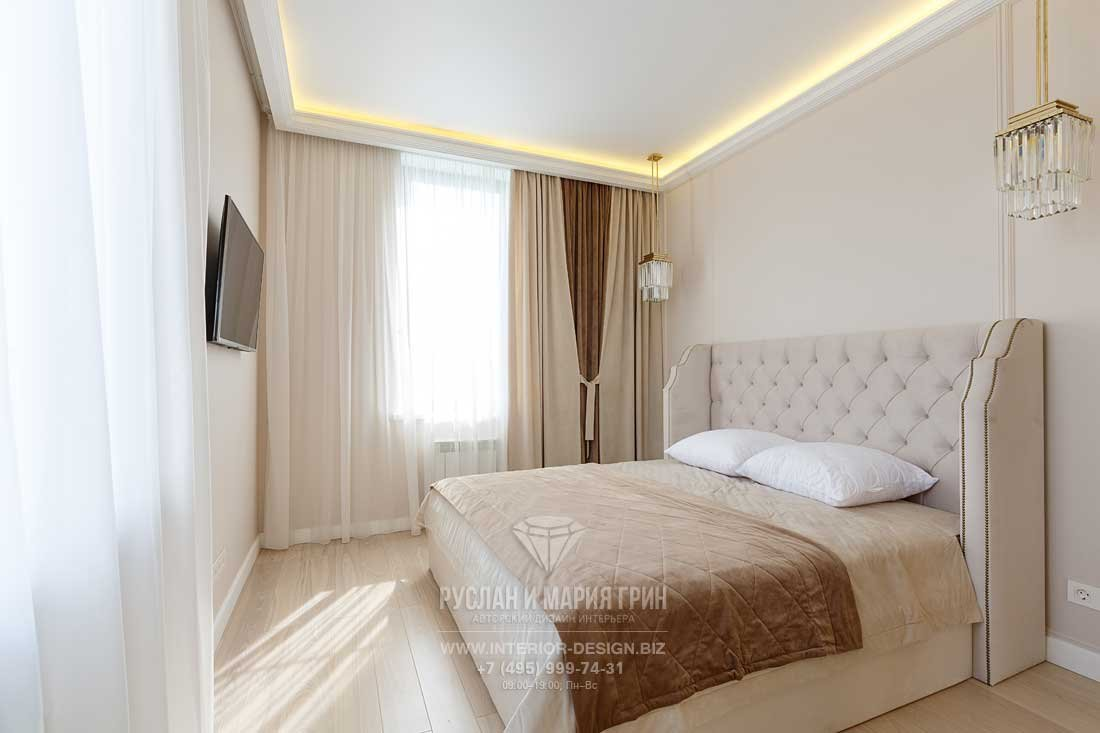 Кровать с каретной стяжкой в стиле арт-деко