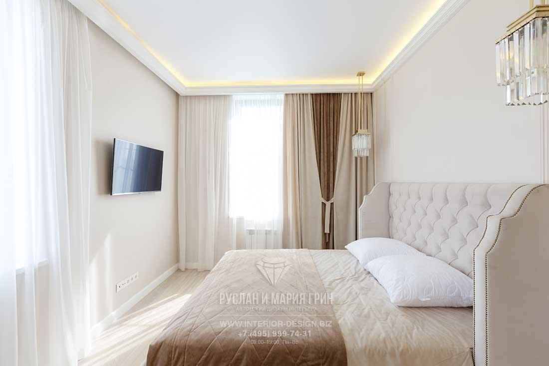 Спальня в стиле арт-деко. Фото после ремонта