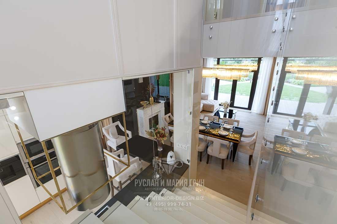 Дизайн столовой дома в КП «Высокий берег»