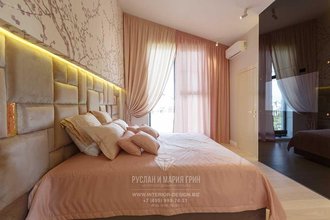 Интерьер спальни в стиле арт-деко. Фото после ремонта