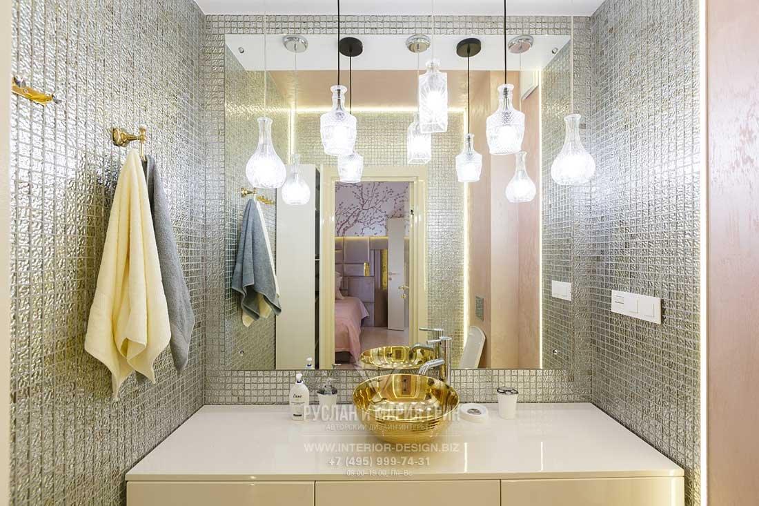 Ванная комната в стиле ар-деко. Зона для умывания