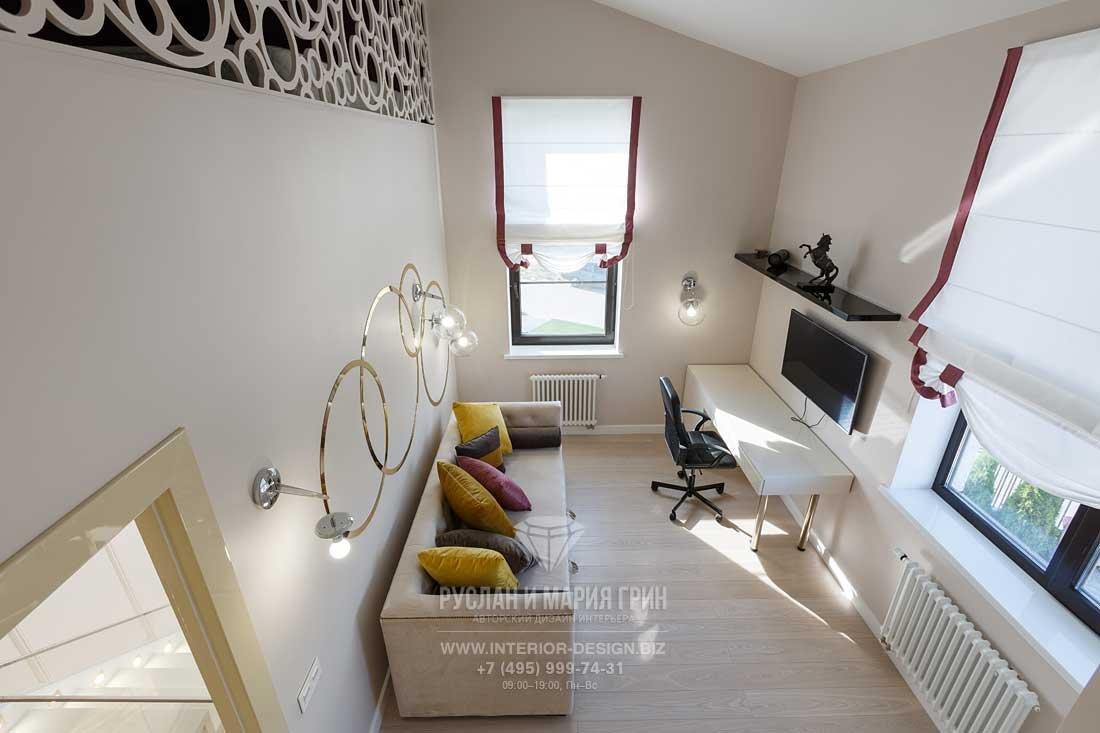 Дизайн кабинета в частном доме. Фото после ремонта