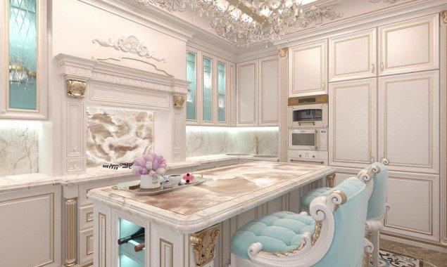 Дизайн классической кухни в светлых тонах