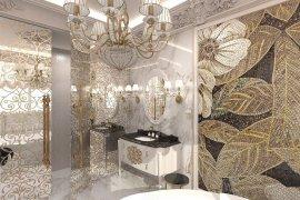 Дизайн классической ванной комнаты в светлых тонах
