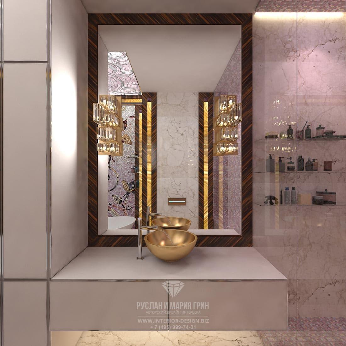 Дизайн ванной комнаты при спальне