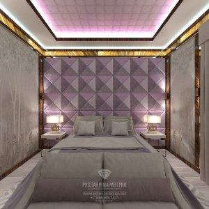 Красивый дизайн спальни в стиле арт-деко