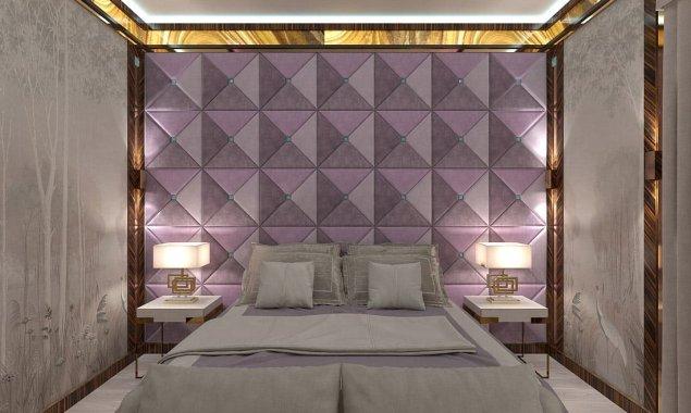 Дизайн спальни с гардеробной и ванной комнатой