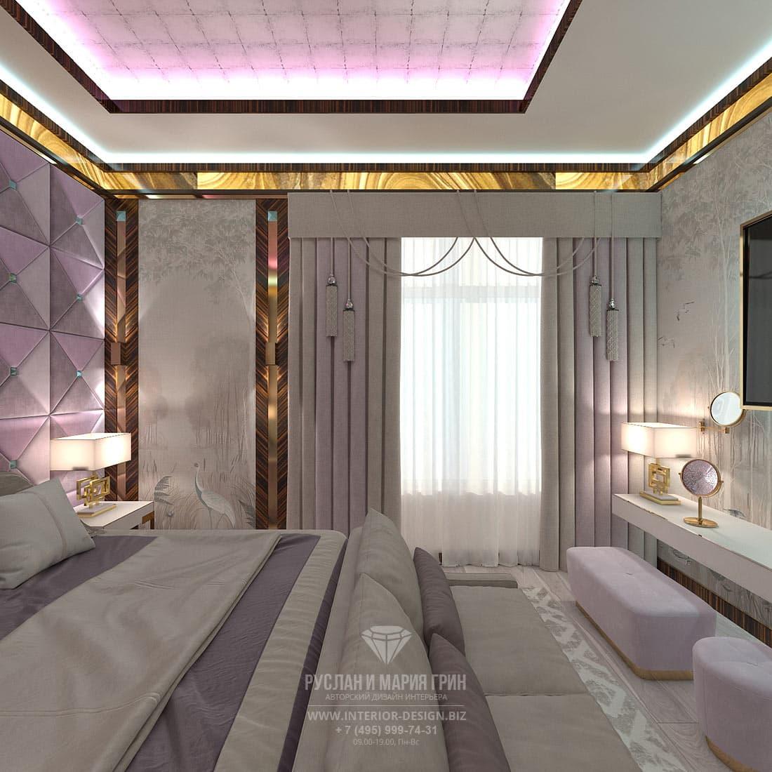 Дизайн коридора в спальне
