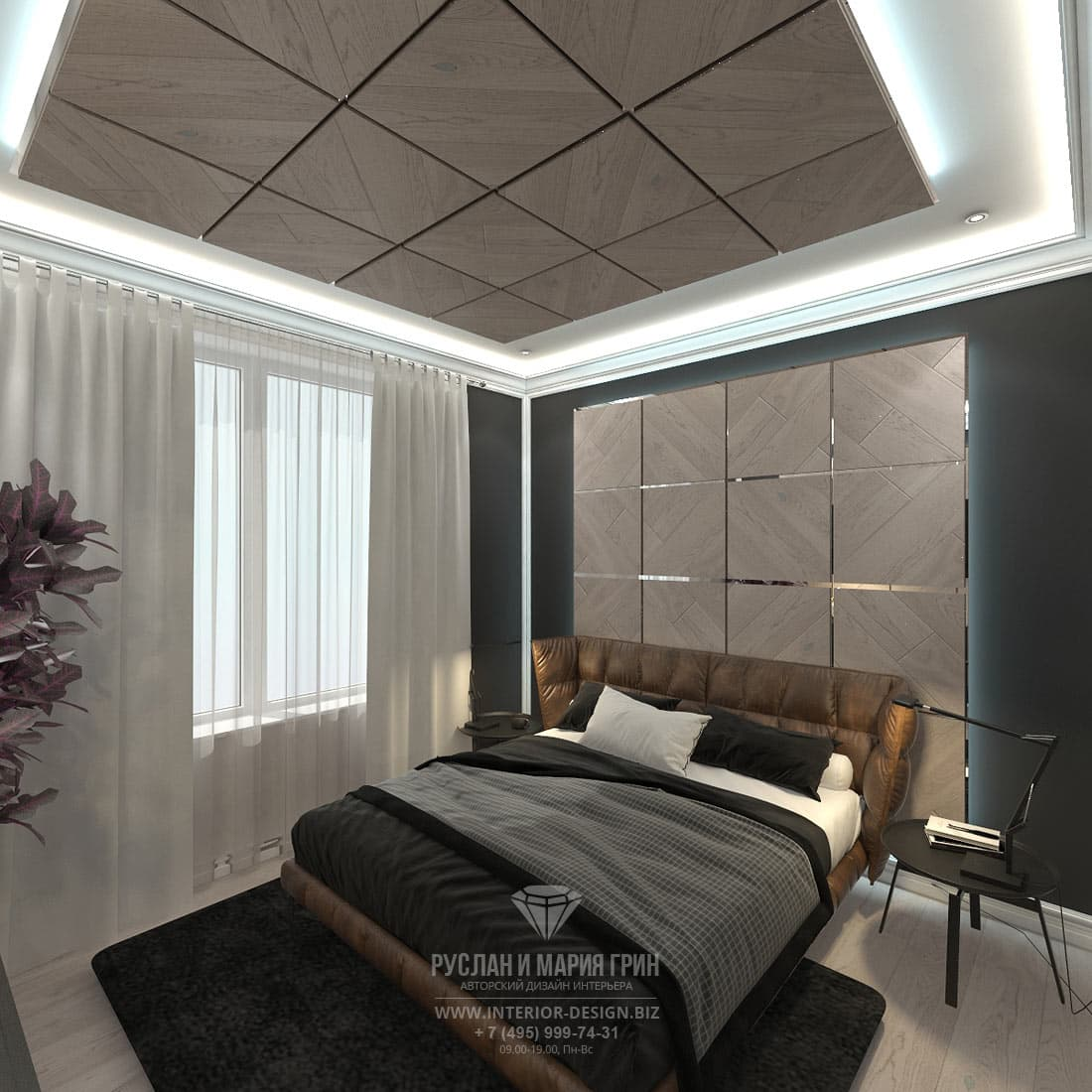 Современные тенденции дизайна. Фото спальни