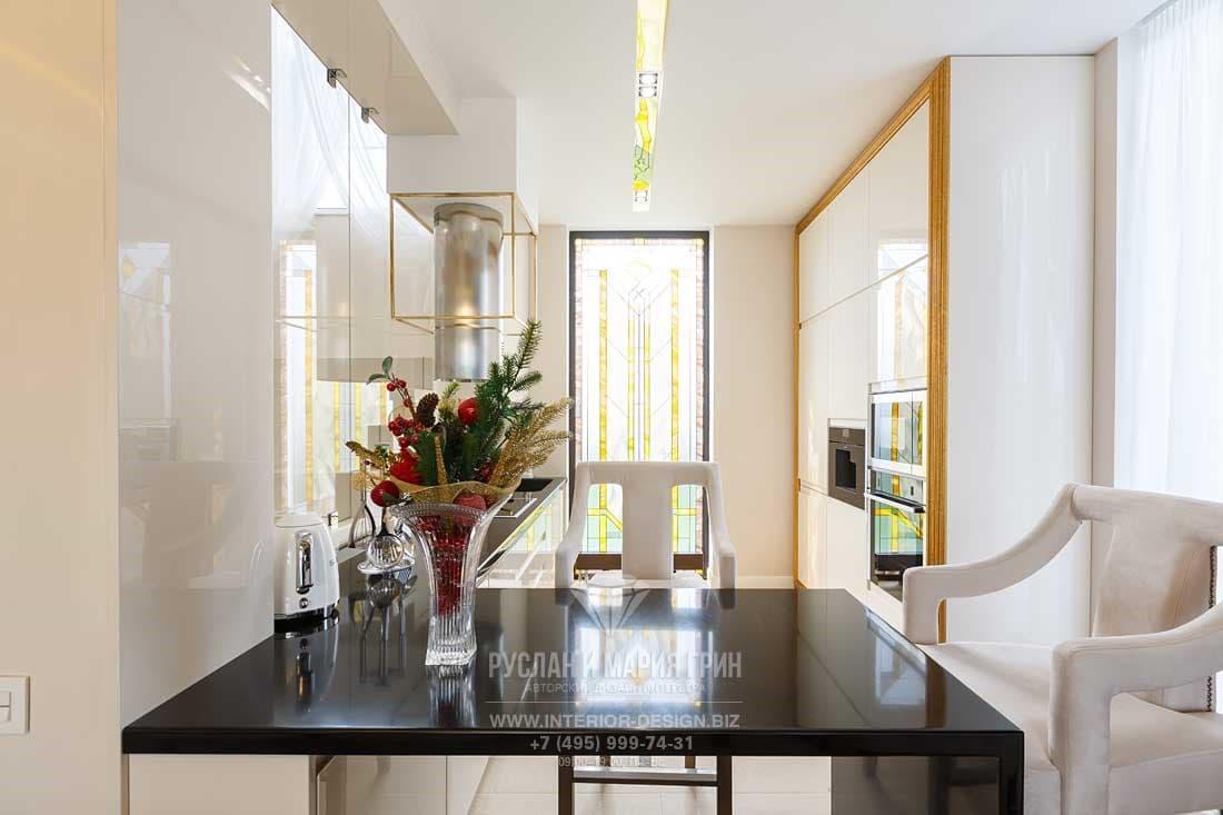 Дизайн интерьера столовой с элементами модерна