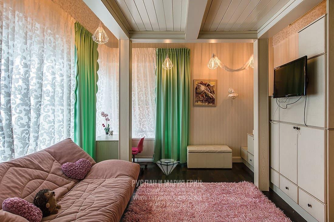 Современный дизайн апартаментов. Фото спальни