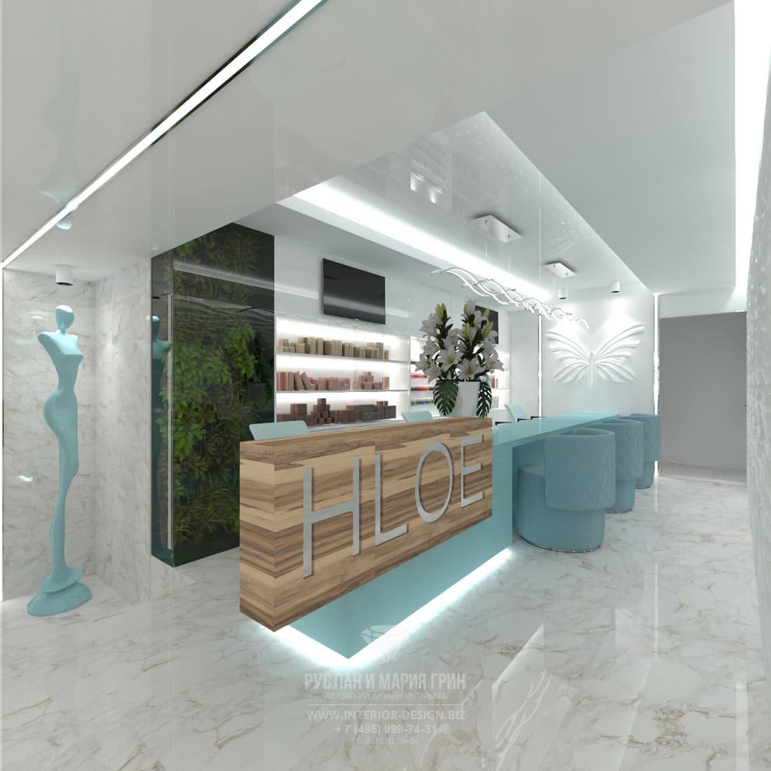 Дизайн интерьера салона красоты маленькой площади